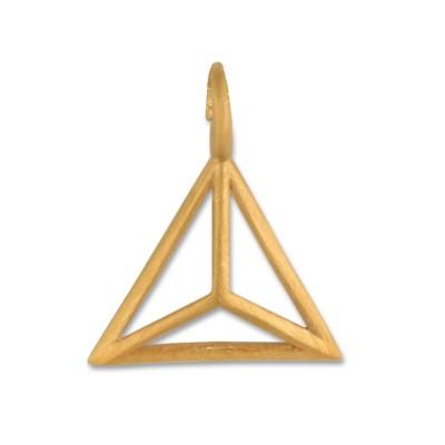 Anhänger Triangel goldplattiert