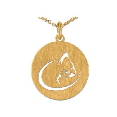 Anhänger Katze Portät inkl. Silberkette goldpl.