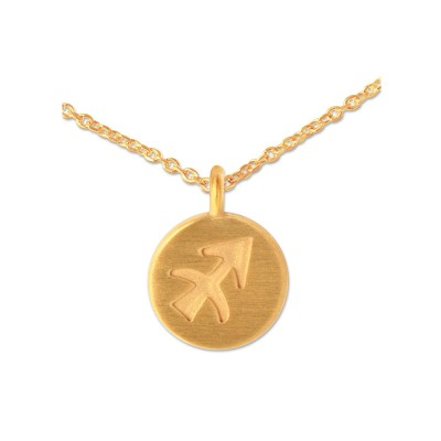 Mini Anhänger Sternzeichen Gold Schütze mit Kette
