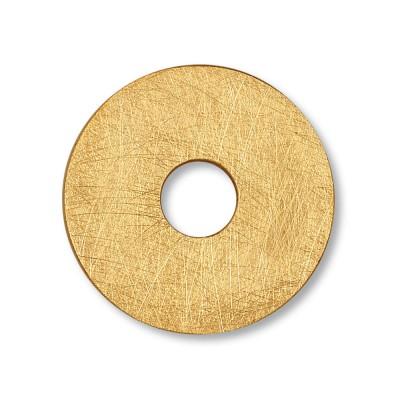 Scheibe Rondell 28 mm, goldplattiert