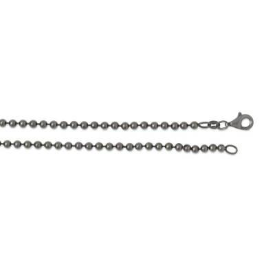 Silber Kugelkette 2,5mm 50cm rutheniert