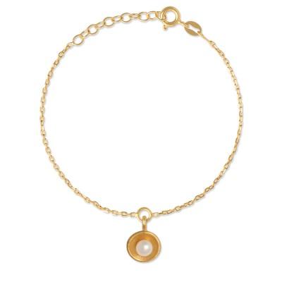 Armkette Perlzeit goldplattiert