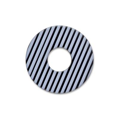 Acryl Scheibe 22mm LEVEL4 schwarz/gestreift