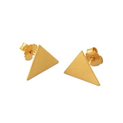 Ohrstecker Dreieck 11x13mm plattiert