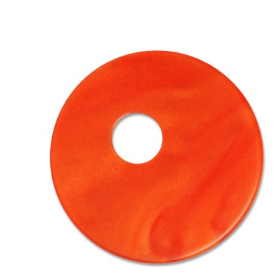 Scheibe Aquarell assym. Acryl 33mm rotorange