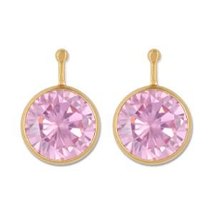 Combis Zirkonia 10mm rosa goldplattiert