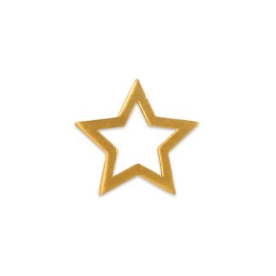 Anhänger Stern ohne Öse ohne Silberkette plattiert