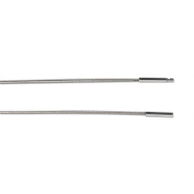 Stahlseil Edelstahl, 3-reihig, mit Bajonett, 50cm, Magie
