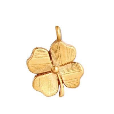 Mini Anhänger Glücksklee goldplatt 10mm ohne Kette