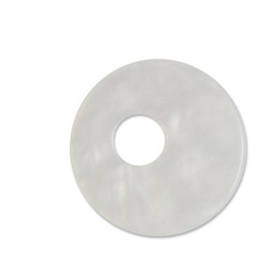 Scheibe Aquarell assym. Acryl 25mm weiß