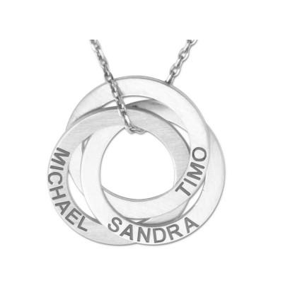 Anhänger 3 Ringe inclusive Gravur und Silberkette