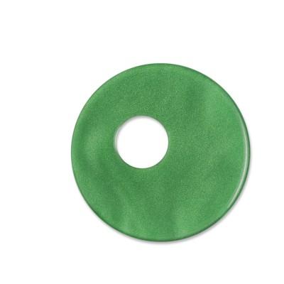 Scheibe Aquarell asym. Acryl 25mm grün
