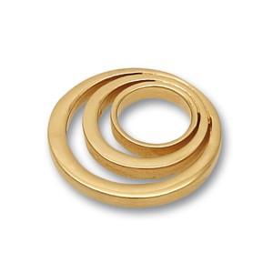 Scheibe Looping, rund, , goldpl. 20mm,glanz