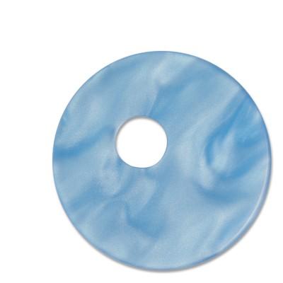 Scheibe Aquarell, assymetrisch, 33 mm, hellblau