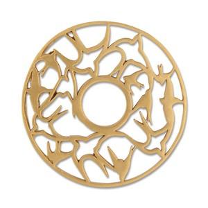 Scheibe Schwalbennest, 28 mm, goldplattiert