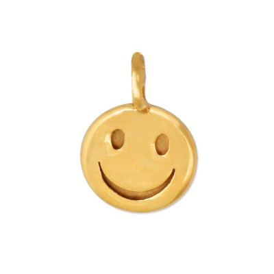 Mini Anhänger Smiley goldplattiert ohne Kette