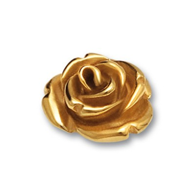 Top Rose II 13mm goldplattiert
