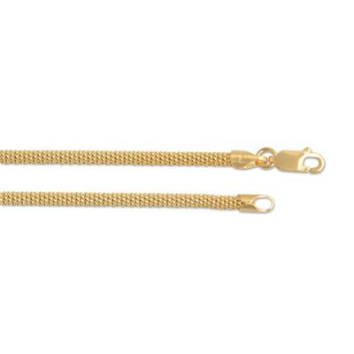 Himbeer Kette 3mm 60cm 925 Silber vergoldet