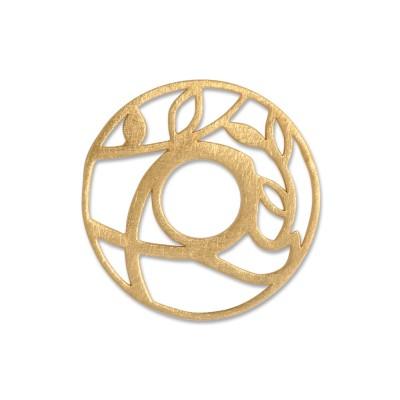 Scheibe Talisman Friedenstaube, 23 mm, goldplatt