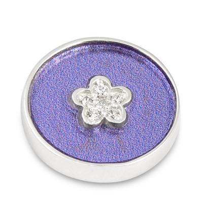 Top Silber Acyl Colorful Flower CZ Flieder 15mm