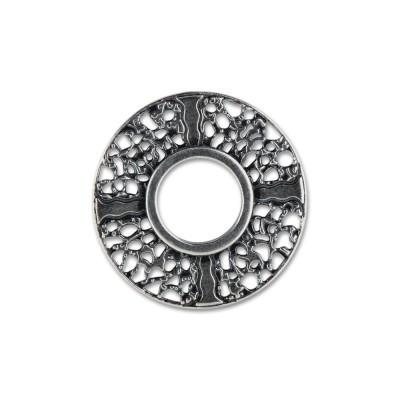 Scheibe Stargate ca.19mm silber/schwarz