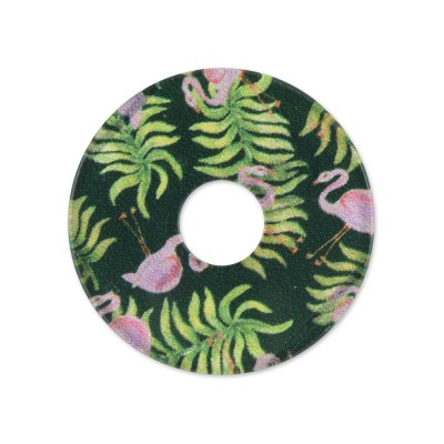 Acryl Scheibe 28mm grüne Flamingos