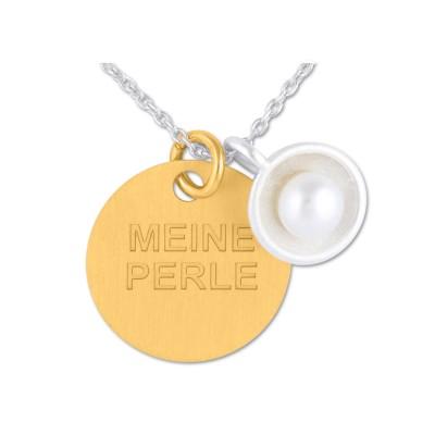 Anhänger Kombination Perle mit Gravurplatte