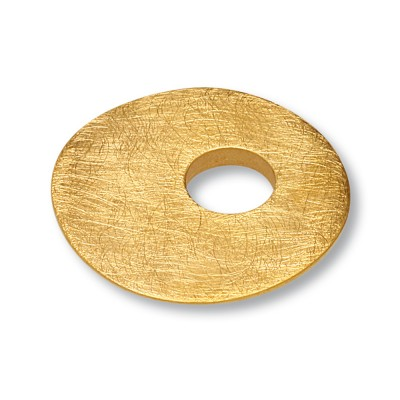 Scheibe Waves asym. 26mm goldplattiert