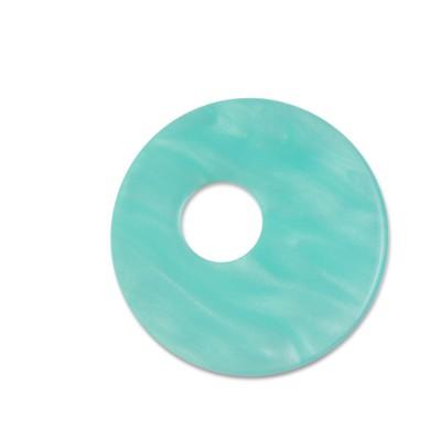 Scheibe Aquarell assym. Acryl 25mm mint