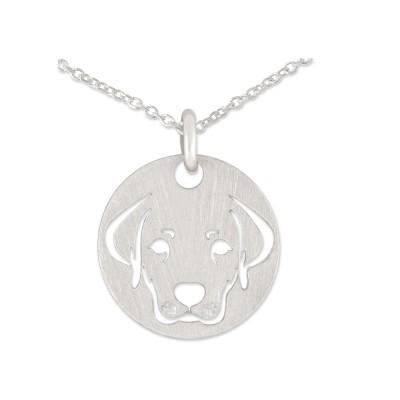 Anhänger Hundeportät 13mm inkl Silberkette