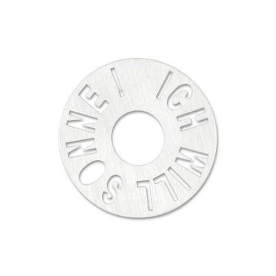 """Silber """"Ich will Sonne!"""" 22mm ohne Acrylscheibe"""