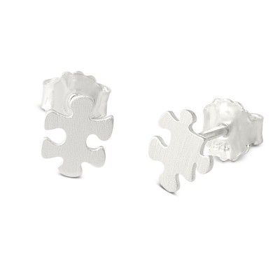 Mini Puzzle, Ohrstecker 7x8mm