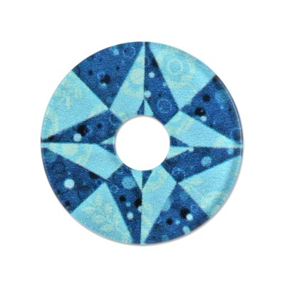 Acryl Scheibe 28mm Blue Star