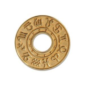 Scheibe Astro goldplattiert 23mm
