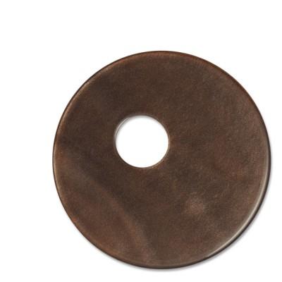 Scheibe Aquarell assym. Acryl 33mm dunkelbraun