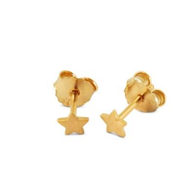 Stern Ohrstecker 5mm goldplattiert