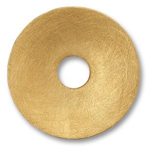Scheibe Waves ,goldplattiert, 32mm