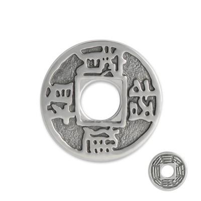 Scheibe Münze chinesisches Glückszeichen 23mm