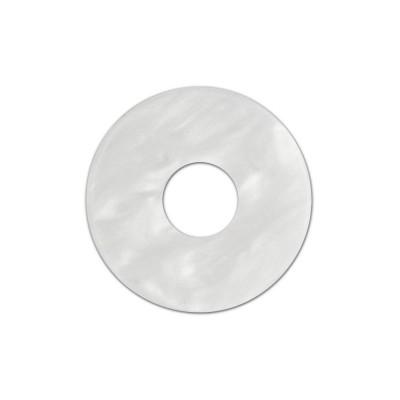 Scheibe Aquarell acryl 22mm weiß