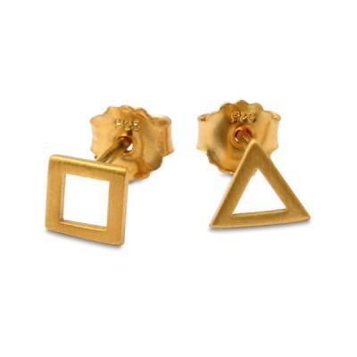 HIP Ohrstecker Quad Dreieck goldplattiert