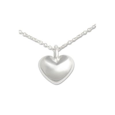 Mini Anhänger Herz, 9 mm, mit Silberkette