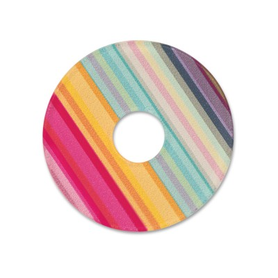 Acryl Scheibe 28 mm Color stripes 2