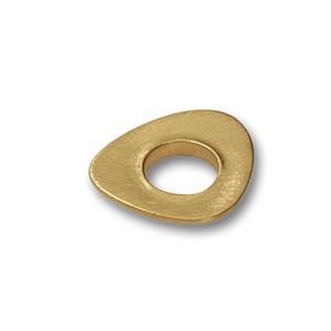 Scheibe Triangel ca.17x15mm, goldplattiert