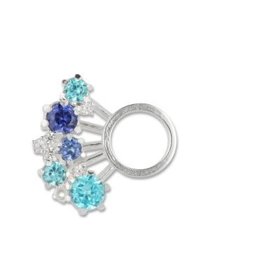 Crystal, Blautöne light, 19 mm