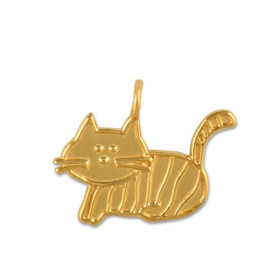 Anhänger Katze*** Relief goldplattiert ohne Kette