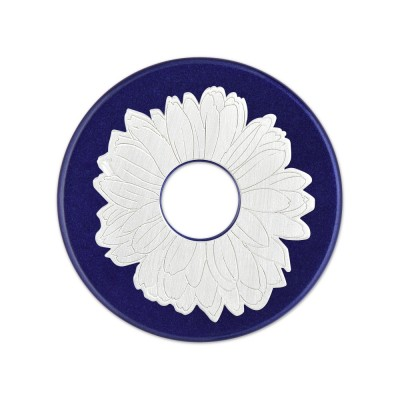 Silber Blume 23mm inkl. Acrylscheibe