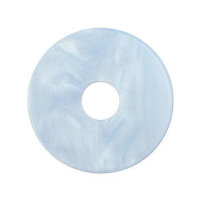 Scheibe Aquarell acryl 28mm eisblau