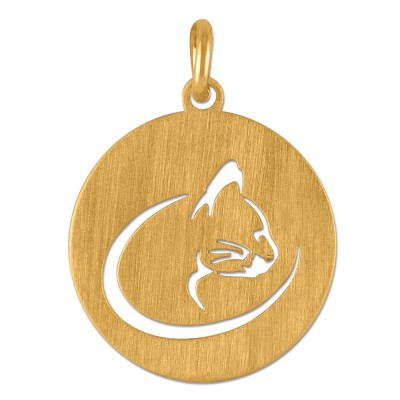 Anhänger Katze Portät Goldplattiert