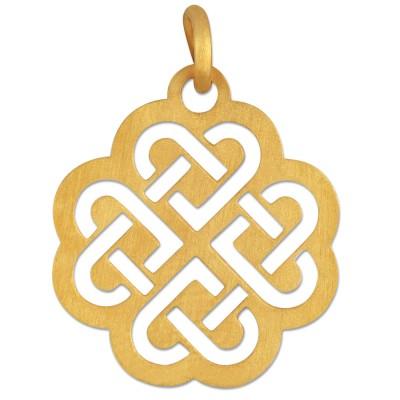 Anhänger keltisches Herz plattiert