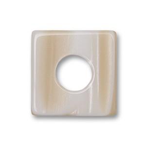 Color Scheibe Acetat Quadr. perlmutt 18mm